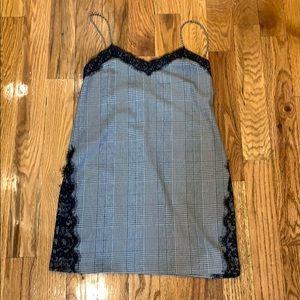 Zara plaid cami dress